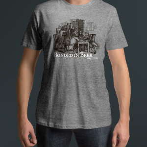 Bonded in Beer Heather Gray T Shirt