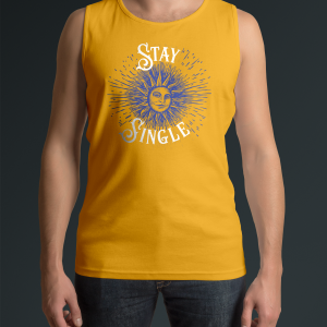 Stay Single Yellow Tank Shirt Front