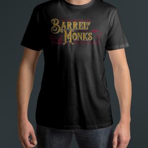 Western/Historian Barrel of Monks Black T Shirt