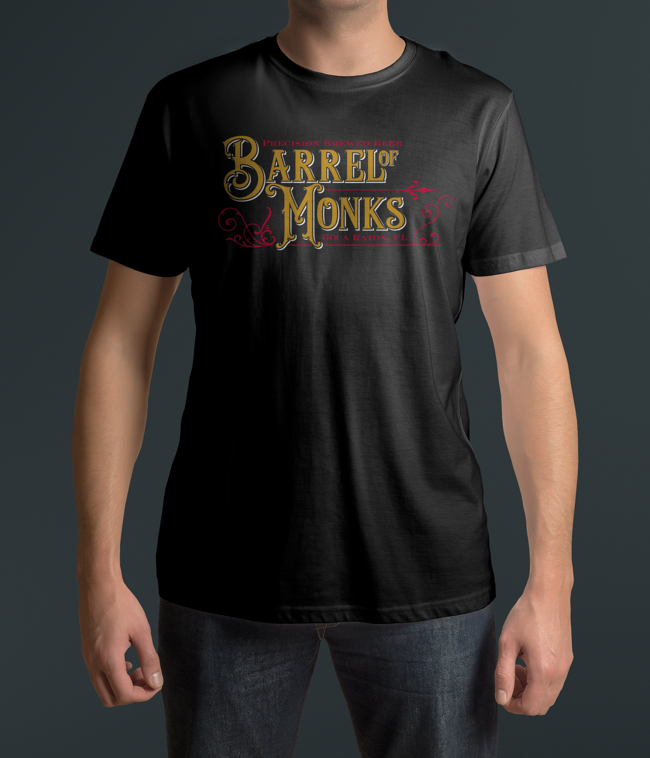 Western/Historian Barrel of Monks Black T Shirt